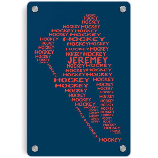 Hockey Metal Wall Art Panel - Personalized Hockey Words