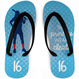 Softball Flip Flops Personalized This Princess Wears Cleats