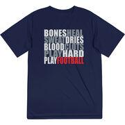 Football Short Sleeve Performance Tee - Bones Saying