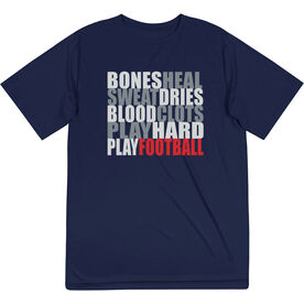 Football Short Sleeve Performance Tee - Bones Saying