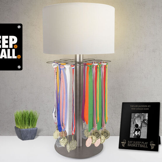 Basketball Tabletop Medal Display Lamp