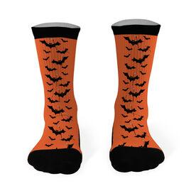 Hockey Printed Mid Calf Socks Bats with Hockey Sticks
