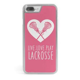 Girls Lacrosse iPhone® Case - Live Love Play Lacrosse