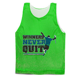 Guys Lacrosse Pinnie - Winners Never Quit