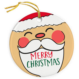 Porcelain Ornament - Up-close Santa
