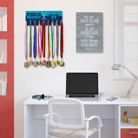 Field Hockey Hooked on Medals Hanger - Personalized Sticks Color Block
