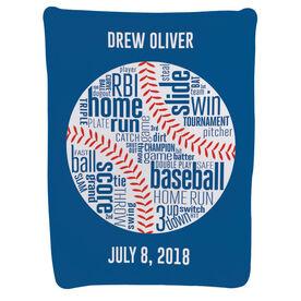 Baseball Baby Blanket - Words