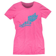 Cross Country Women's Everyday Tee Winged Foot Inspirational Words