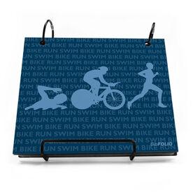 BibFOLIO® Race Bib Album - Swim Bike Run Repeat Guys