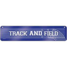 "Track & Field Aluminum Room Sign Track and Field Drive (4""x18"")"