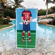 Soccer Premium Beach Towel - Male Player