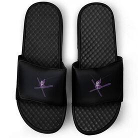 Skiing Black Slide Sandals - Airborne