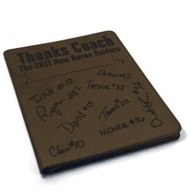 Football Executive Portfolio - Thanks Coach with Signatures