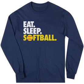 Softball T-Shirt Long Sleeve Eat. Sleep. Softball.