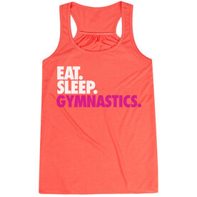 Gymnastics Flowy Racerback Tank Top - Eat Sleep Gymnastics
