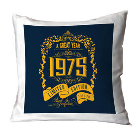 Personalized Throw Pillow - Vintage Wine Label