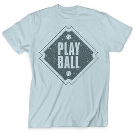 Vintage Baseball T-Shirt - Play Ball Diamond