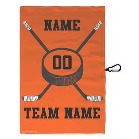 Hockey Skate Towel Hockey Team Crossed Sticks