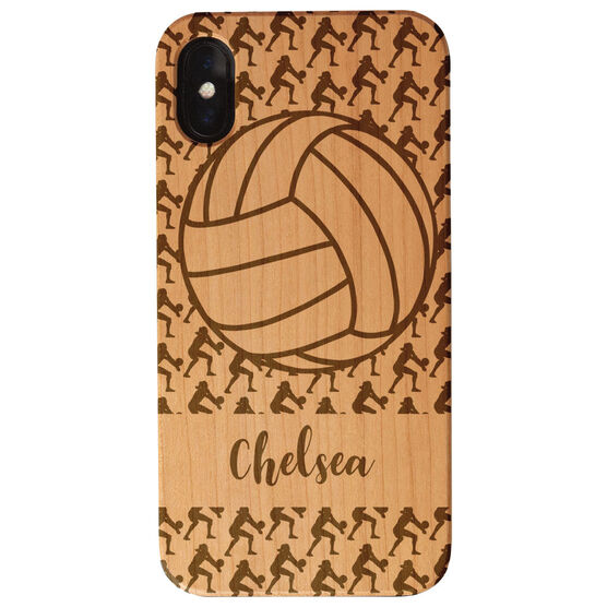 Volleyball Engraved Wood IPhone® Case - Player Pattern