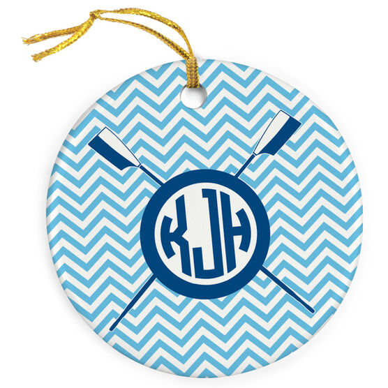 Crew Porcelain Ornament Personalized Monogram
