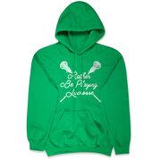 Girls Lacrosse Hooded Sweatshirt - Rather Be Playing Lacrosse