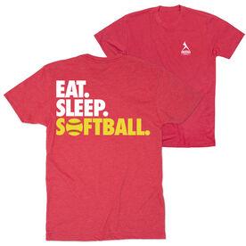 Softball T-Shirt Short Sleeve - Eat. Sleep. Softball (Logo Collection)