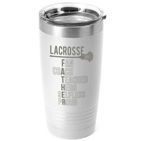 Guys Lacrosse 20 oz. Double Insulated Tumbler - Guys Lacrosse Father Words