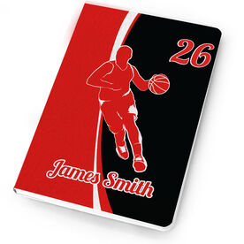 Basketball Notebook Personalized Basketball Guy with Big Number