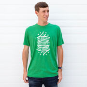 Running Short Sleeve T-Shirt - We Run Free Because Of The Brave