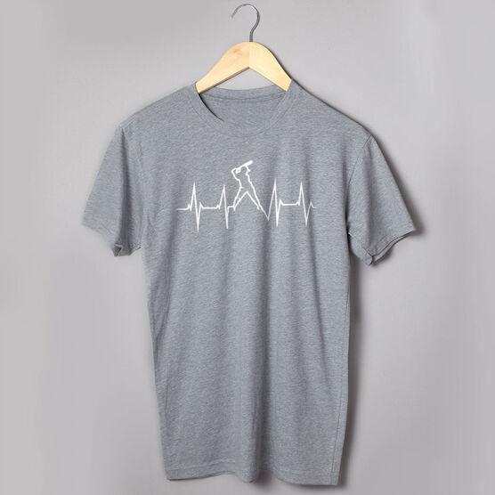 Softball T-Shirt Short Sleeve Heartbeat Batter