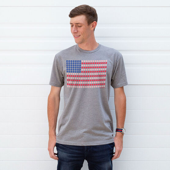 Softball/Baseball T-shirt Short Sleeve Patriotic Baseball
