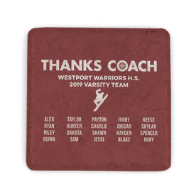 Snowboarding Stone Coaster - Thanks Coach Roster
