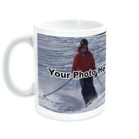 Skiing Coffee Mug Custom Photo
