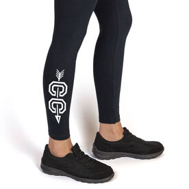 Cross Country Leggings - Cross Country With Arrow