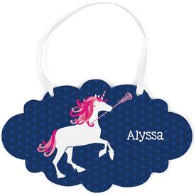 Girls Lacrosse Cloud Sign - Lax Unicorn