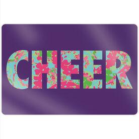 "Cheerleading 18"" X 12"" Aluminum Room Sign - Floral Cheer"