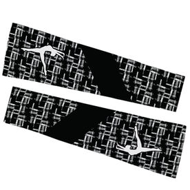 Gymnastics Printed Arm Sleeves - Gymnastics Ink with Silhouette