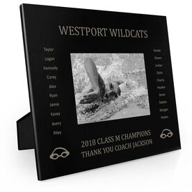 Swimming Engraved Picture Frame - Team Name With Roster