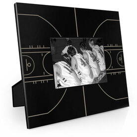 Basketball Engraved Picture Frame - Court