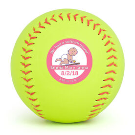 Personalized Softball - We Had A Softball Player
