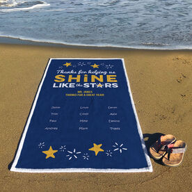 Personalized Premium Beach Towel - Teacher Shine Like Stars