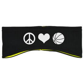 Basketball Reversible Performance Headband Peace Love Basketball