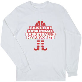 Basketball Long Sleeve T-Shirt - Basketball's My Favorite