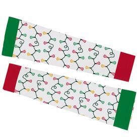 Lacrosse Printed Arm Sleeves - Lacrosse Head Christmas Lights