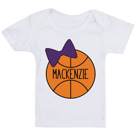 Basketball Baby T-Shirt - Personalized Basketball Bow