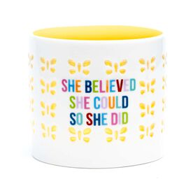 Soleil Home™ Porcelain Candle Holder - She Believed She Could