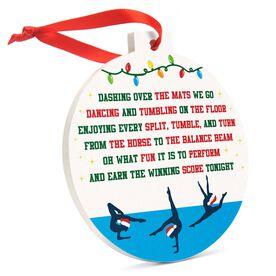 Gymnastics Round Ceramic Ornament - Jingle All the Way