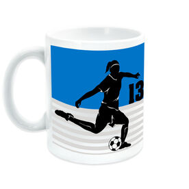 Soccer Coffee Mug Personalized 2 Tier Girl