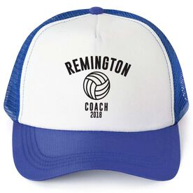 Volleyball Trucker Hat - Team Name Coach With Curved Text