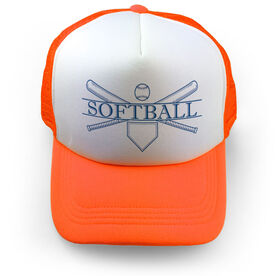 Softball Trucker Hat - Crest